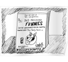 Occupy Scripts editorial cartoon Poster
