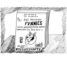 Occupy Scripts editorial cartoon Photographic Print