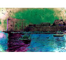 The Essence of Croatia - The Old Harbour at Dubrovnik Photographic Print