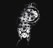 The Cat Who Walks Alone - T Shirt by Allie Hartley