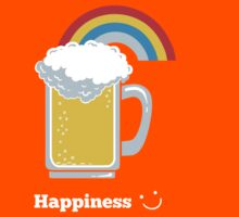 Happiness | Cute Beer with Rainbow Kids Tee