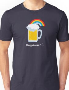 Happiness | Cute Beer with Rainbow T-Shirt
