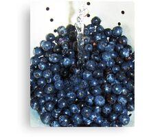 Washing Blueberries Canvas Print