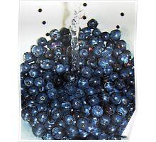 Washing Blueberries Poster