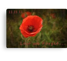 Rememberence  Canvas Print