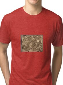 flying  creature art drawing coloring book art on item Tri-blend T-Shirt