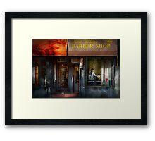 Barber - NY - Greenwich Village - West Village Barber Shop  Framed Print