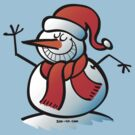 Grinning Snowman by Zoo-co