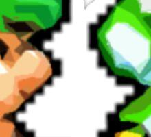 Baby Luigi and Baby Yoshi Sticker