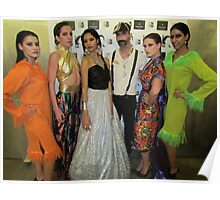 Marcello and his models! Poster