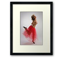 Dancing girl in red skirt Framed Print