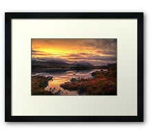 Golden Sunrise Over Loch Ba Framed Print