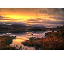 Golden Sunrise Over Loch Ba Photographic Print