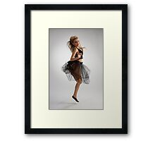 Beautiful girl in diaphanous skirt Framed Print