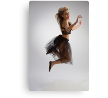 Beautiful girl in diaphanous skirt Canvas Print