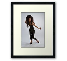 Girl in black Framed Print