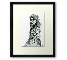 Pencil Cloak Woman Framed Print