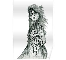 Pencil Cloak Woman Poster