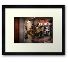 Cleaner - NY - Chelsea - The cleaners Framed Print