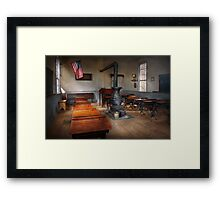 Teacher - First day of school Framed Print