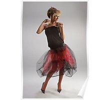 Beautiful girl in diaphanous skirt Poster
