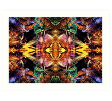 Abstract Colours Art Print