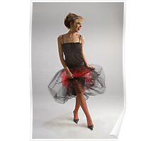 Beautiful girl in diaphanous skirt Poster