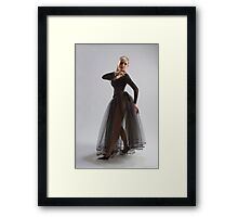 Sexy girl in diaphanous dress Framed Print