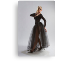 Sexy girl in diaphanous dress Canvas Print