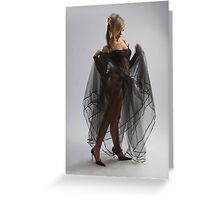 Sexy girl in diaphanous dress Greeting Card