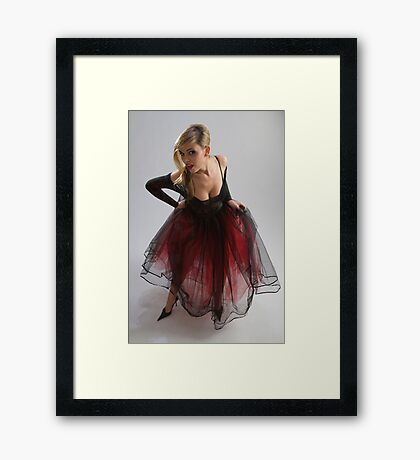 Sexy girl in diaphanous dress Framed Print
