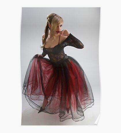 Beautiful girl in diaphanous dress Poster