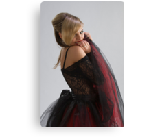 Beautiful girl in diaphanous dress Canvas Print