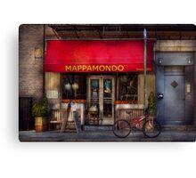 Cafe - NY - Chelsea - Mappamondo  Canvas Print