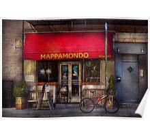 Cafe - NY - Chelsea - Mappamondo  Poster
