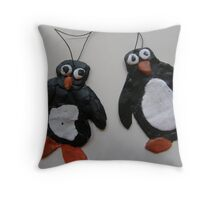 SNOW PENGUIN 23 - now picture us dancin' yeah' were good at that !  Throw Pillow