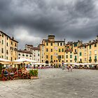 Piazza Anfiteatro - Lucca by David Tinsley