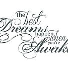 The Best Things Happen When You're Awake Motivational Quote by surgedesigns