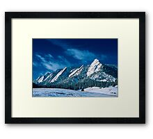Majestic - The Flatirons of Boulder, Colorado Framed Print