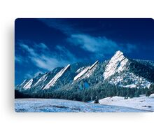 Majestic - The Flatirons of Boulder, Colorado Canvas Print