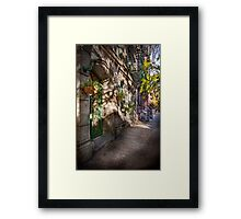 Bike - NY - Greenwich Village - The green district Framed Print