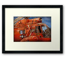 Transportation - Helicopter - Coast guard helicopter Framed Print