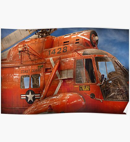 Transportation - Helicopter - Coast guard helicopter Poster