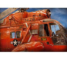 Transportation - Helicopter - Coast guard helicopter Photographic Print