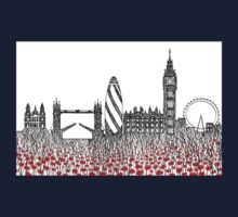 Remember ( London poppies) Kids Tee