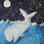 White Whale,Full Moon and Jupiter by Kay Hale