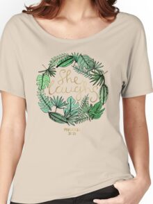 Proverbs 31:25 Women's Relaxed Fit T-Shirt