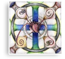 wheel 4: Path with Heart Canvas Print