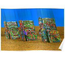 Cadillac Ranch - Amarillo Poster