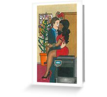 Christmas Party Kiss Greeting Card